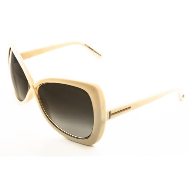Tom Ford FT0277 25F Jade Butterfly Womens Sunglasses - Ivory Frame and Brown Lens