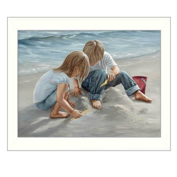 Sand Castle Builders' Framed Art