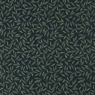 E210 Navy Floral Leaf Residential Contract Grade Upholstery Fabric
