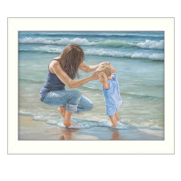 Playing in the Water' Framed Art