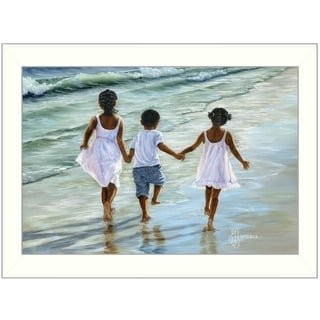 'Running on the Beach' by Georgia Janisse Framed Print