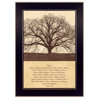 'Life Is' Inspirational Framed Wall Art Typography Print