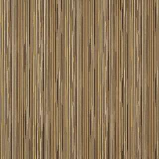 E229 Brown Yellow Ivory Abstract Striped Contract Upholstery Fabric (By The Yard)