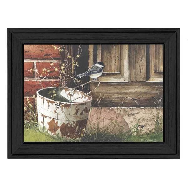 Chickadee At the Door' Framed Art