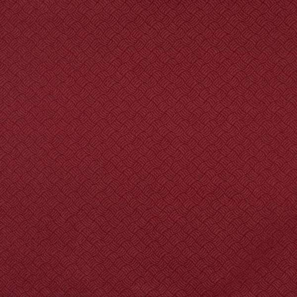 F768 Burgundy Red Geometric Durable Stain Resistant Crypton Fabric By The Yard
