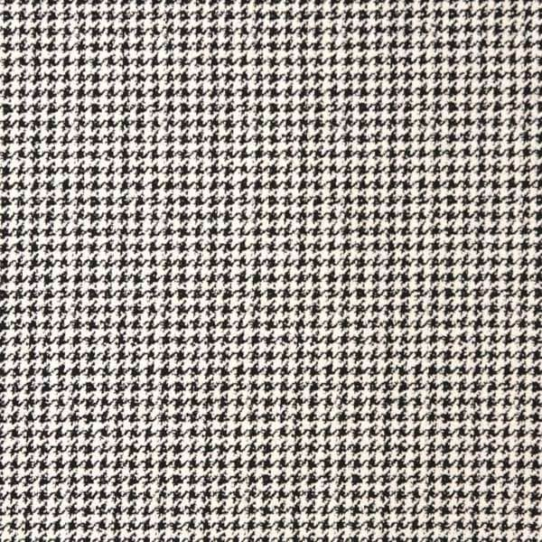 E280 Black and White Hounds Tooth Upholstery Grade Fabric (By The Yard)