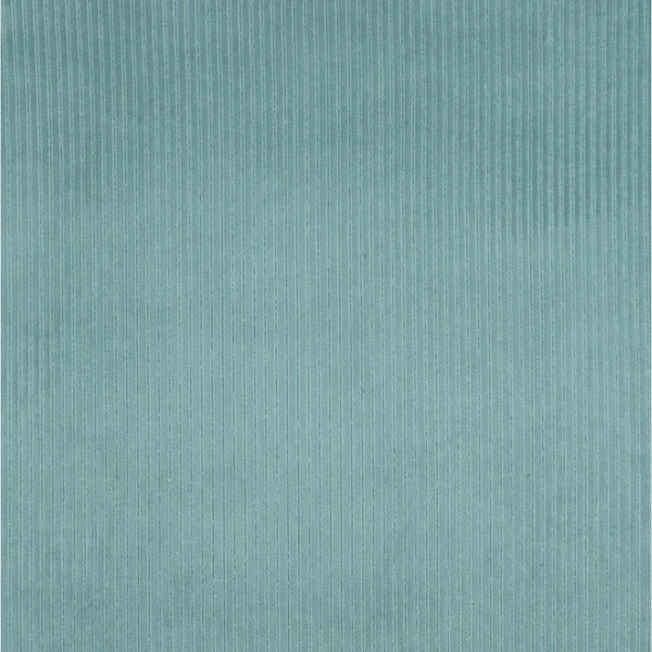 E383 Teal Corduroy Striped Velvet Upholstery Fabric (By The Yard)