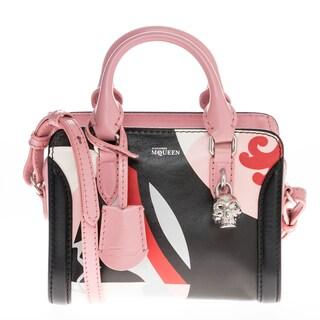 Alexander McQueen Mini Printed Leather Padlock Handbag