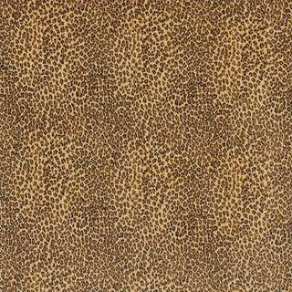 E400 Yellow Leopard Animal Print Microfiber Upholstery Fabric (By The Yard)