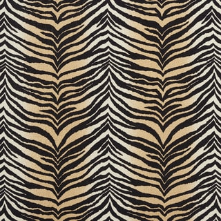 E409 Beige Tiger Animal Print Microfiber Upholstery Fabric (By The Yard)