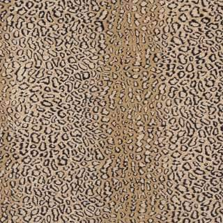 E412 Beige Leopard Animal Print Microfiber Upholstery Fabric (By The Yard)