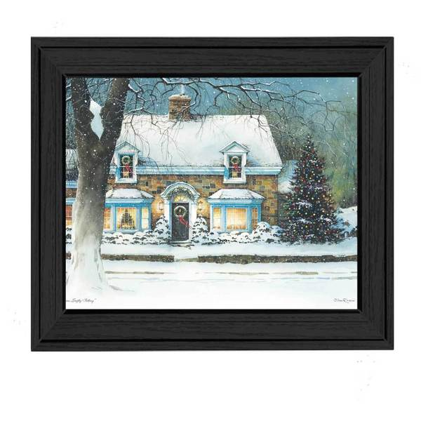 Snow Softly Falling' Framed Art