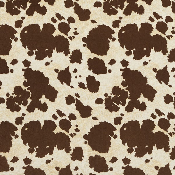E413 Brown Cow Animal Print Microfiber Upholstery Fabric (By The Yard)