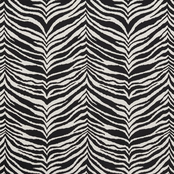 E415 Black and White Zebra Animal Print Microfiber Upholstery Fabric (By The Yard)