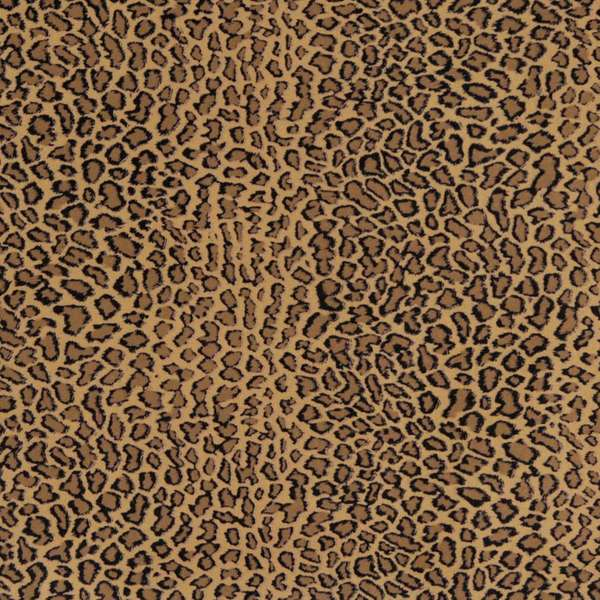 E418 Beige Leopard Animal Print Microfiber Upholstery Fabric (By The Yard)