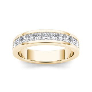 De Couer 14k Yellow Gold 1ct TDW Diamond Women's Wedding Band (H-I, I2)