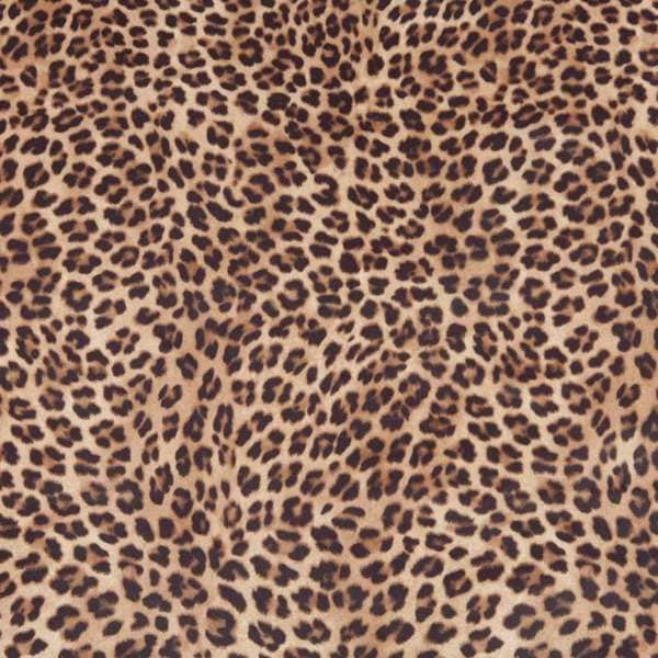 E420 Brown Cheetah Animal Print Microfiber Upholstery Fabric (By The Yard)