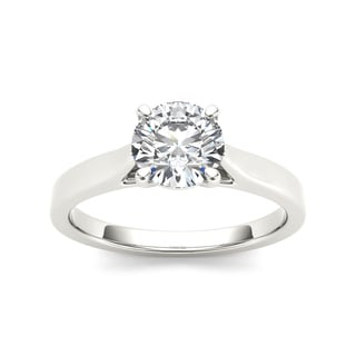 De Couer 14k White Gold 1ct TDW Diamond Classic Engagement Ring (H-I, I2)