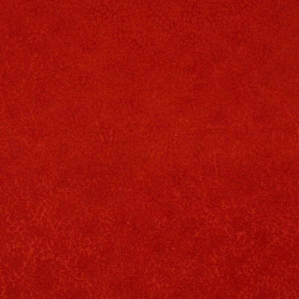 E425 Red Sold Textured Spotted Microfiber Upholstery Fabric (By The Yard)
