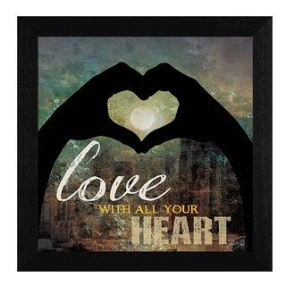 Love with all Your Heart' Framed Art