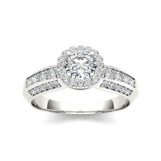 De Couer 14k White Gold 7/8ct TDW Diamond Exquisite Engagement Ring (H-I, I2)