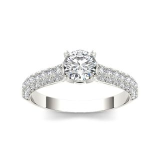 De Couer 14k White Gold 1 1/4ct TDW Diamond Hubristic Engagement Ring (H-I, I2)