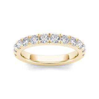 De Couer 14k Yellow Gold 7/8ct TDW Diamond Women's Wedding Band (H-I, I2)