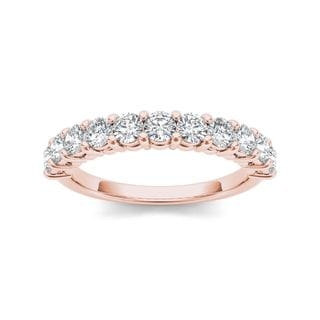 De Couer 14k Rose Gold 1 3/4ct TDW Diamond Women's Wedding Band (H-I, I2)
