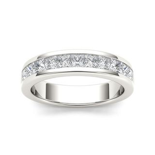 De Couer 14k White Gold 1ct TDW Diamond Didactic Women's Wedding Band (H-I, I2)
