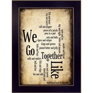 Susan Bell 'We Go Together' Inspirational Framed Art