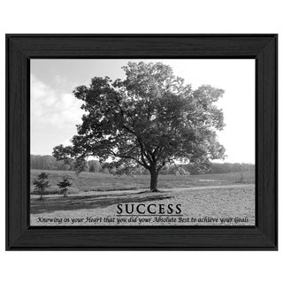 "Motivational Message ""Success"" Framed Printed Canvas Art"
