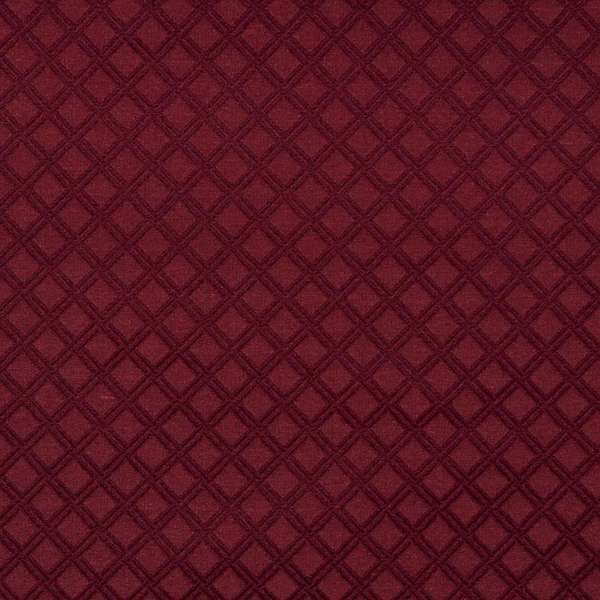E545 Burgundy Diamond Durable Jacquard Upholstery Grade Fabric (By The Yard)