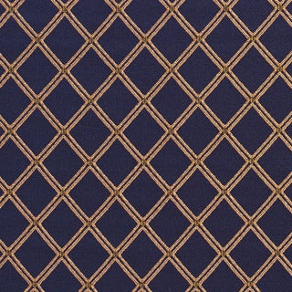 E608 Diamond Blue and Green Damask Upholstery and Drapery Fabric (By The Yard)