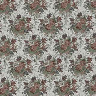 F926 Burgundy Green And Ivory Floral Tapestry Upholstery Fabric By The Yard