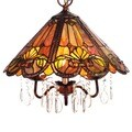 Ameria 3-light Red Tiffany-style Hanging Lamp