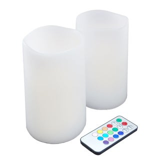 Remote Control LED Candles- Multi Color (Set of 2)