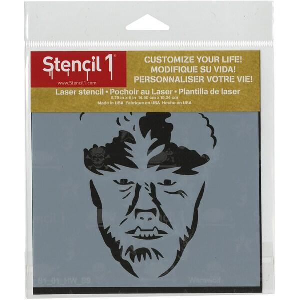 Stencil1 6inX6in Stencil Werewolf