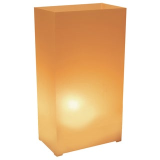 Plastic Luminaria Lanterns - Tan (Set of 12)