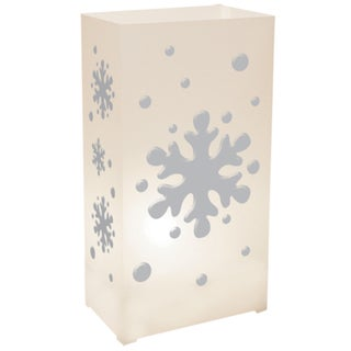 Plastic Luminaria Lanterns - Snowflake (Set of 12)