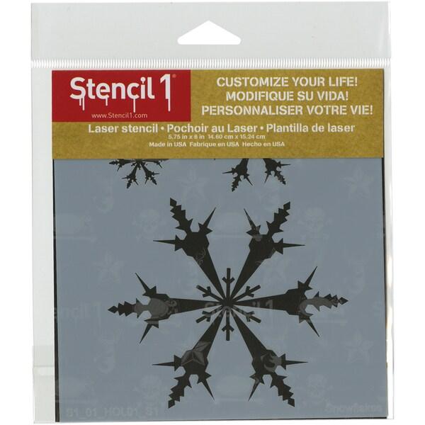 Stencil1 6inX6in Stencil Snowflakes