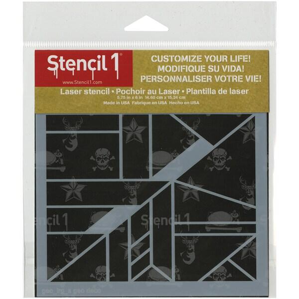 Stencil1 6inX6in Stencil Geo Pattern
