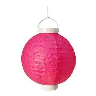 Battery Operated Paper Lanterns - Fuchsia (Set of 3)