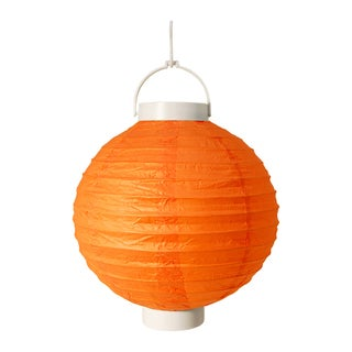 Battery Operated Orange Paper Lanterns (Set of 3)