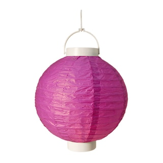 Battery Operated Purple Paper Lanterns (Set of 3)
