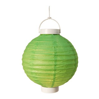 Battery Operated Green Paper Lanterns (Set of 3)