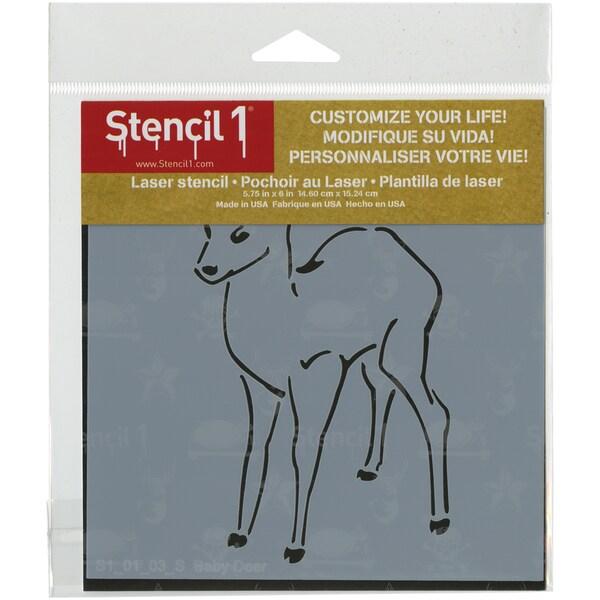 Stencil1 6inX6in Stencil Baby Deer