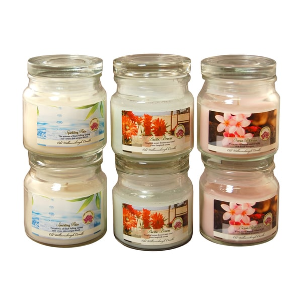 2.5oz. Fresh Scented Candles (Set of 6)