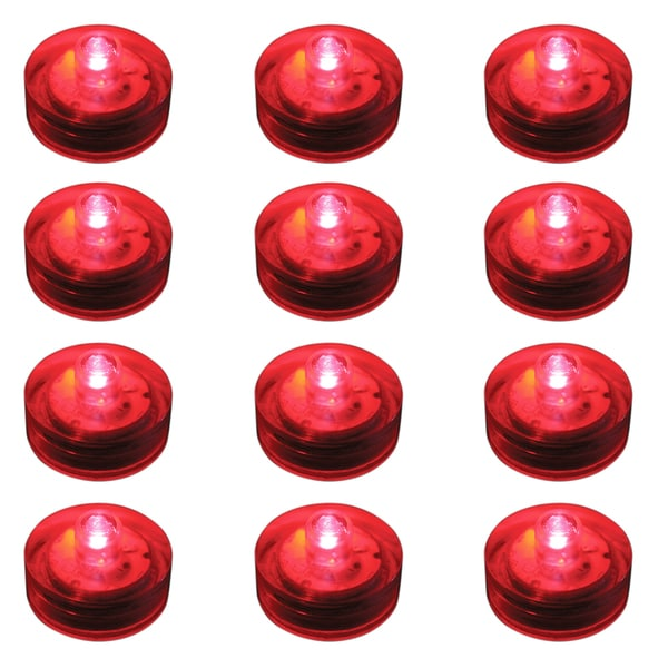 Submersible LED Lights - Red (Set of 12)