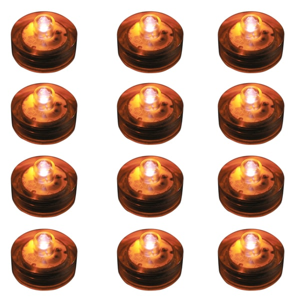 Submersible LED Lights - Orange (Set of 12)