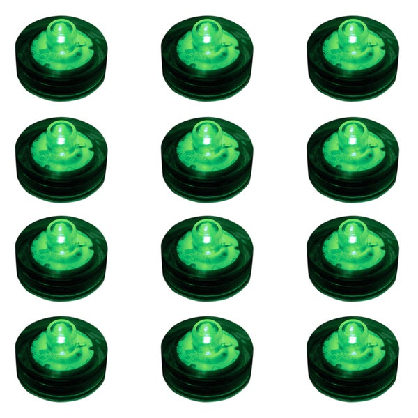 Submersible LED Lights - Green (Set of 12)